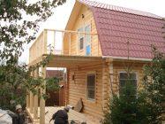 Как пристроить балкон к деревянному дому