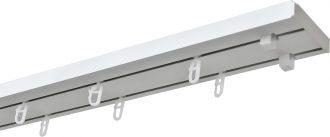 Карнизы для штор потолочные пластиковые двухрядные