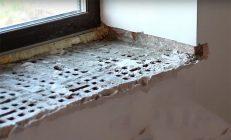 Ремонт бетонного подоконника своими руками