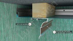 Как прикрепить потолочный карниз к натяжному потолку