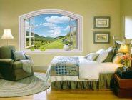 Имитация окна в спальне
