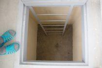 Погреб под лоджией первого этажа