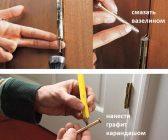 Как снять закрытую дверь с петель?