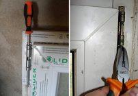 Как снять ПВХ дверь с петель?